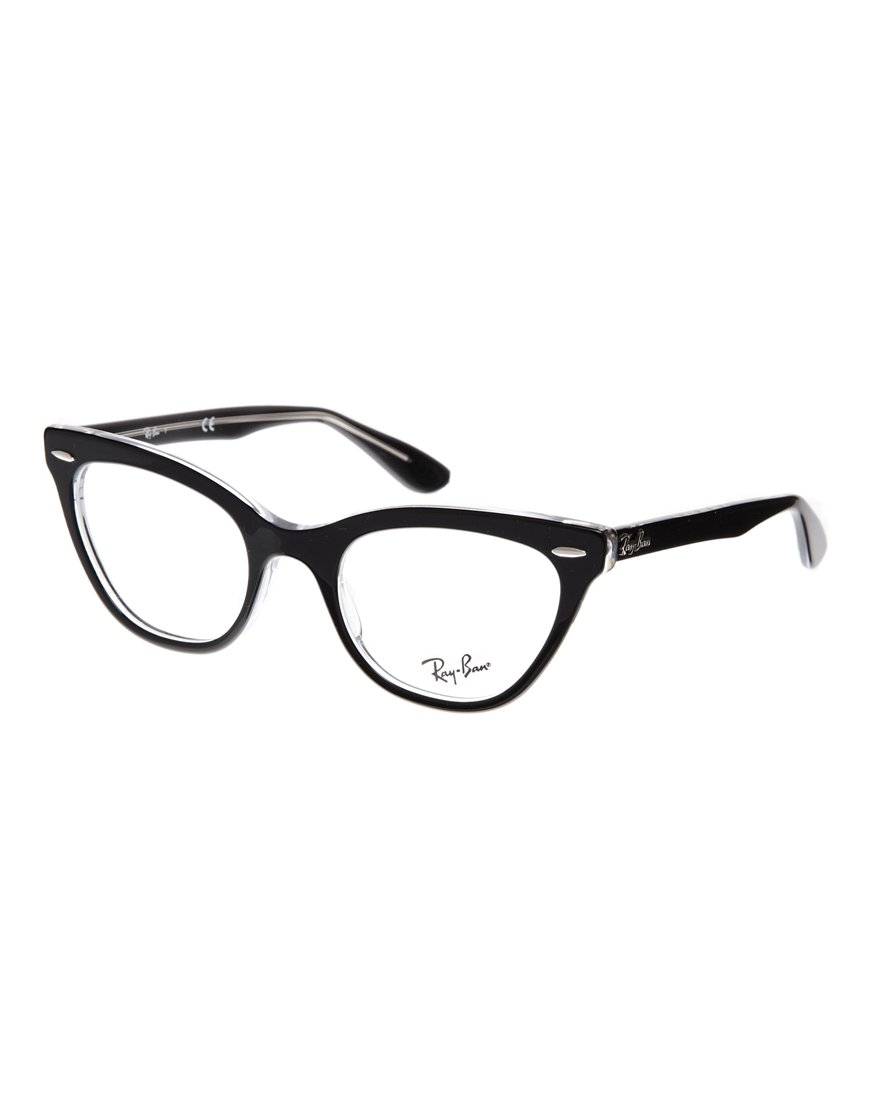 ray ban cateye glasses in black lyst. Black Bedroom Furniture Sets. Home Design Ideas