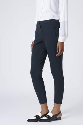 c749ca2aed55 TOPSHOP Womens Petite Stitch Cigarette Trousers Navy in Blue - Lyst