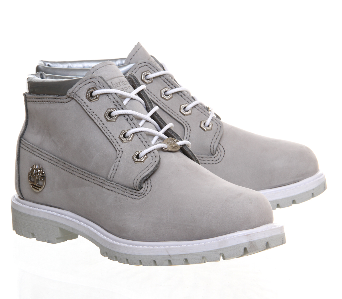 timberland nellie chukka double waterproof boots in gray. Black Bedroom Furniture Sets. Home Design Ideas