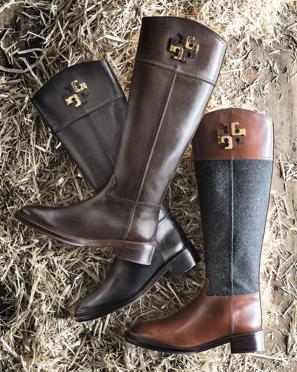 044fa05fa898a Lyst - Tory Burch Lowell Logo Riding Boot in Black