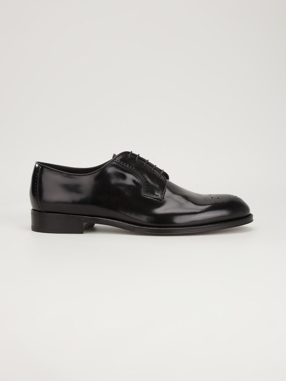 Brioni Lace Up Shoe in Black for Men