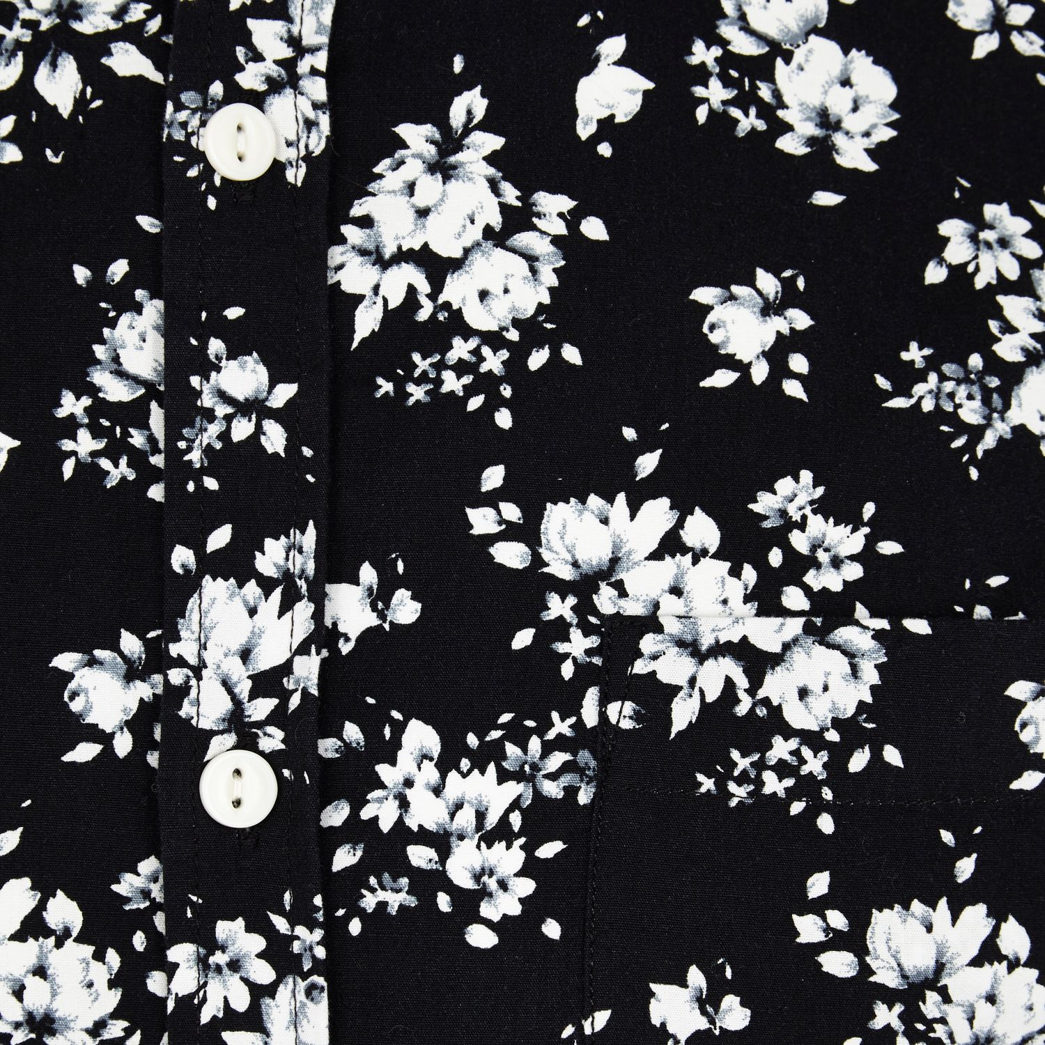 River island black floral print short sleeve shirt in white for men gallery mightylinksfo