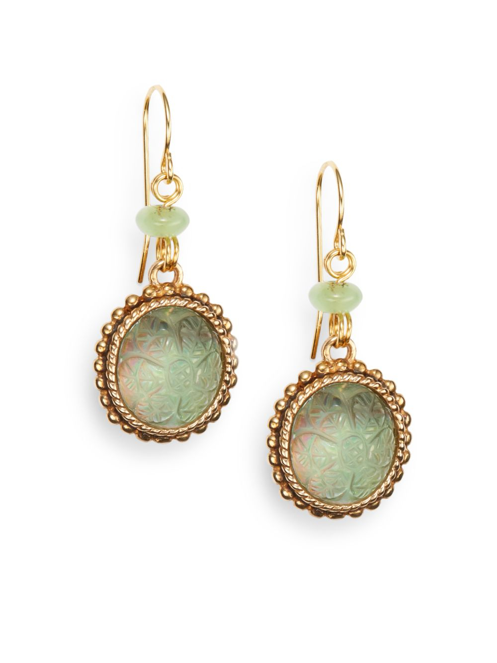 Lyst Stephen Dweck Green Agate Carved Crystal Amp Bronze