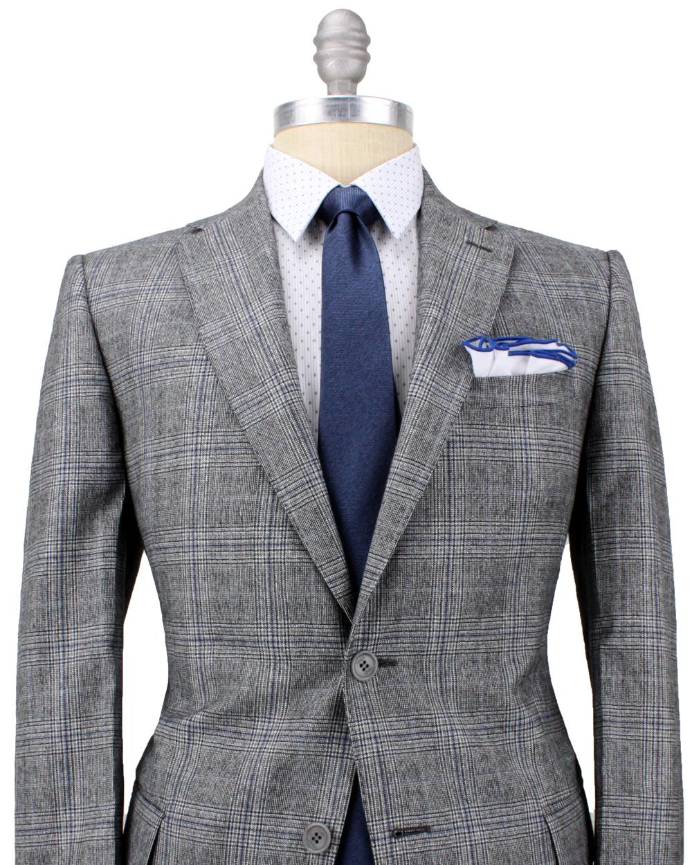 Fendi blue and grey glen plaid suit in blue for men lyst Define plaid