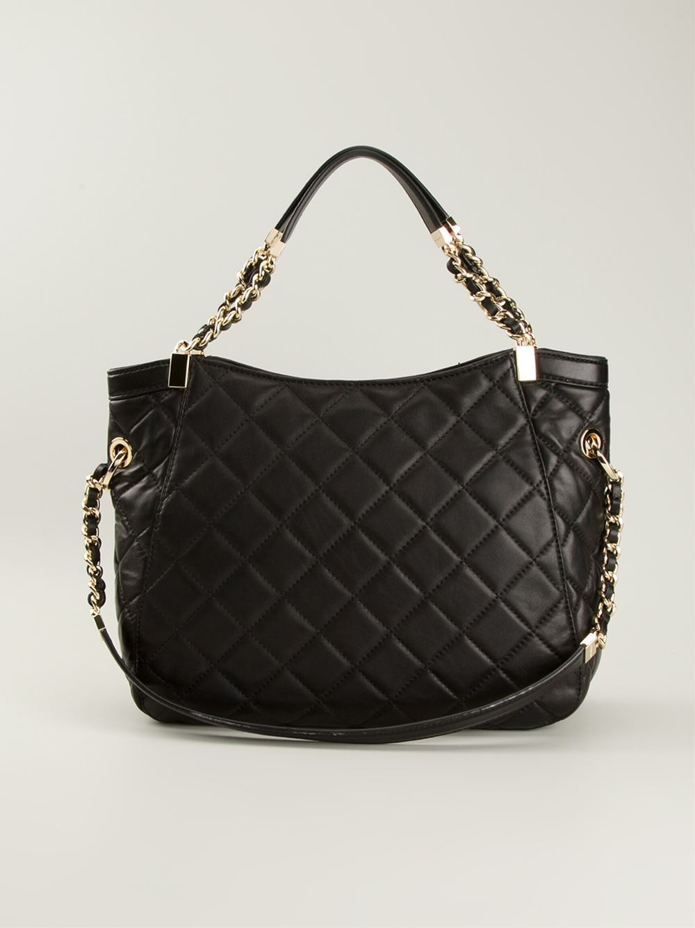 MICHAEL Michael Kors Susannah Quilted Tote in Black