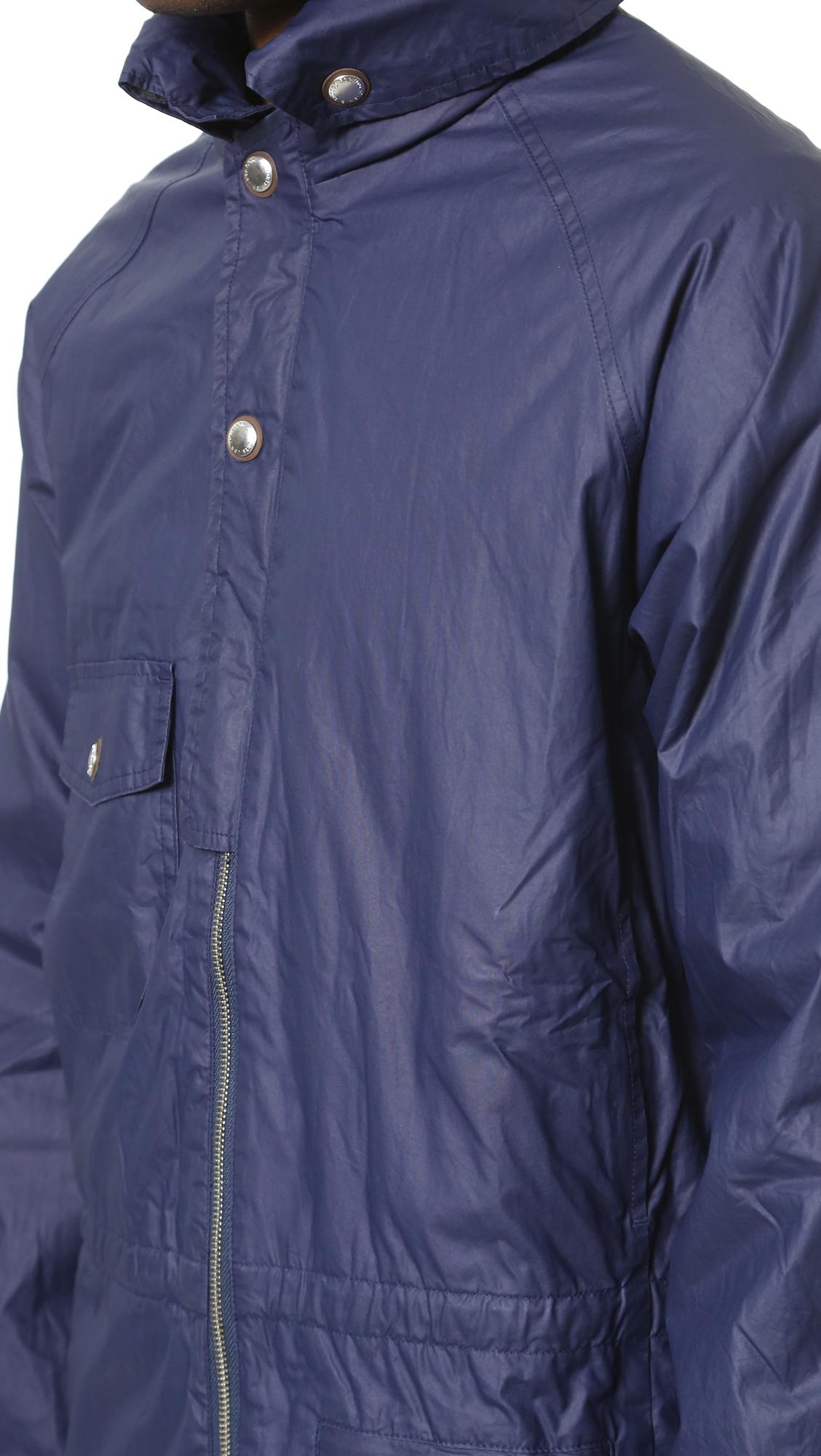Garbstore Cotton Moss Parka in Navy (Blue) for Men