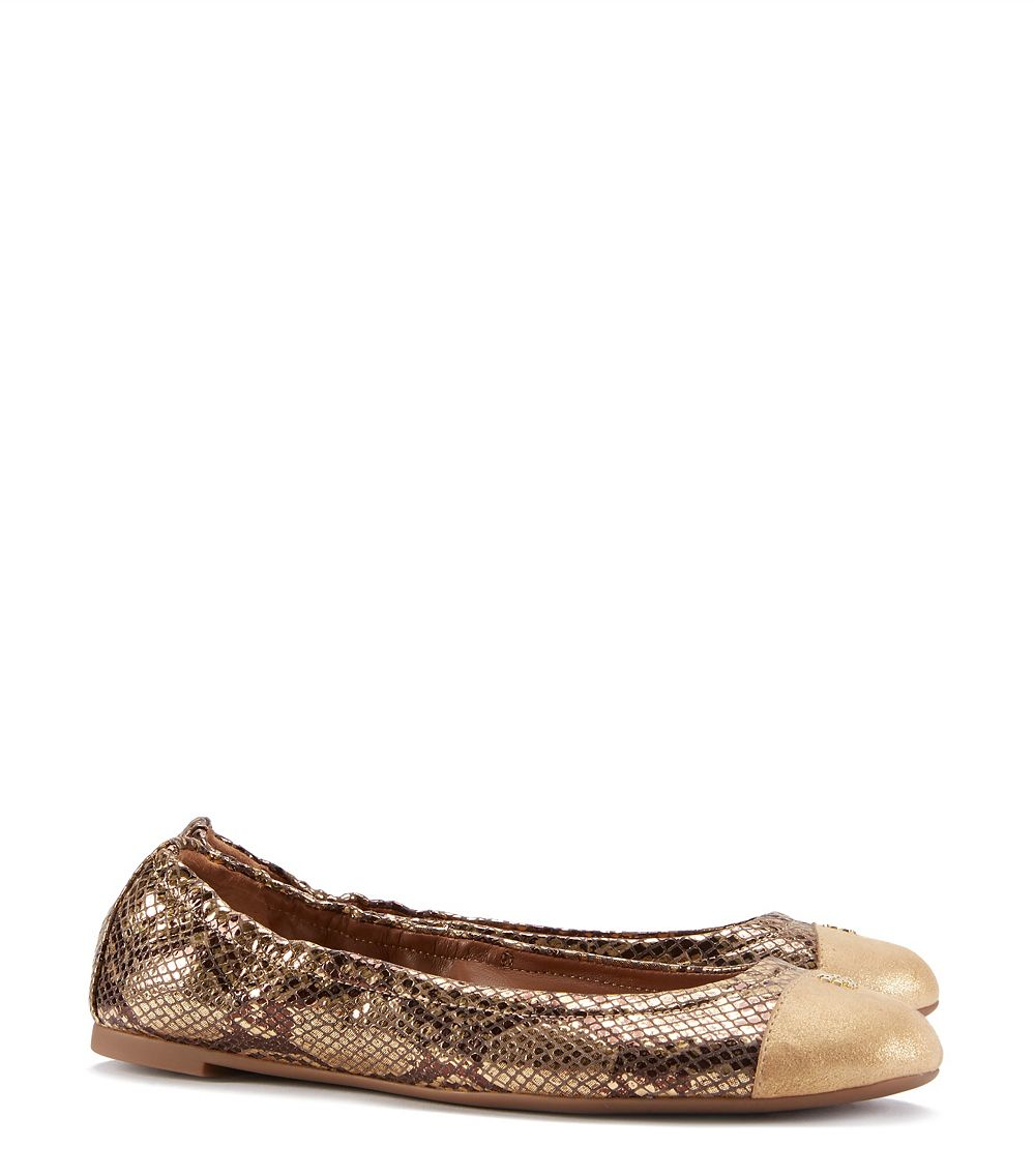 f595137d2 Tory Burch York Ballet Flat in Metallic - Lyst