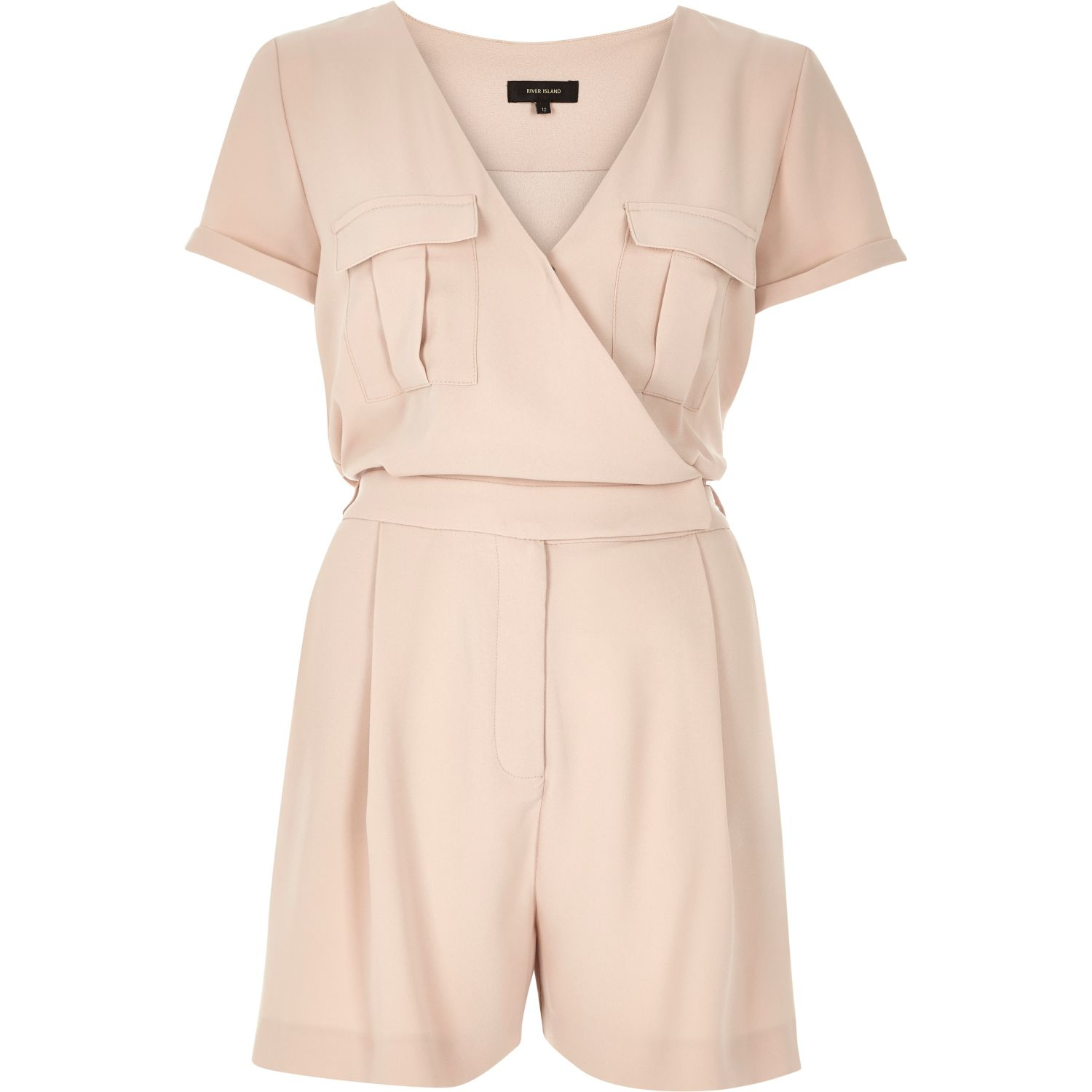 11dbee94bfbb River Island Beige Print Stry Cropped Jumpsuit In Natural Lyst
