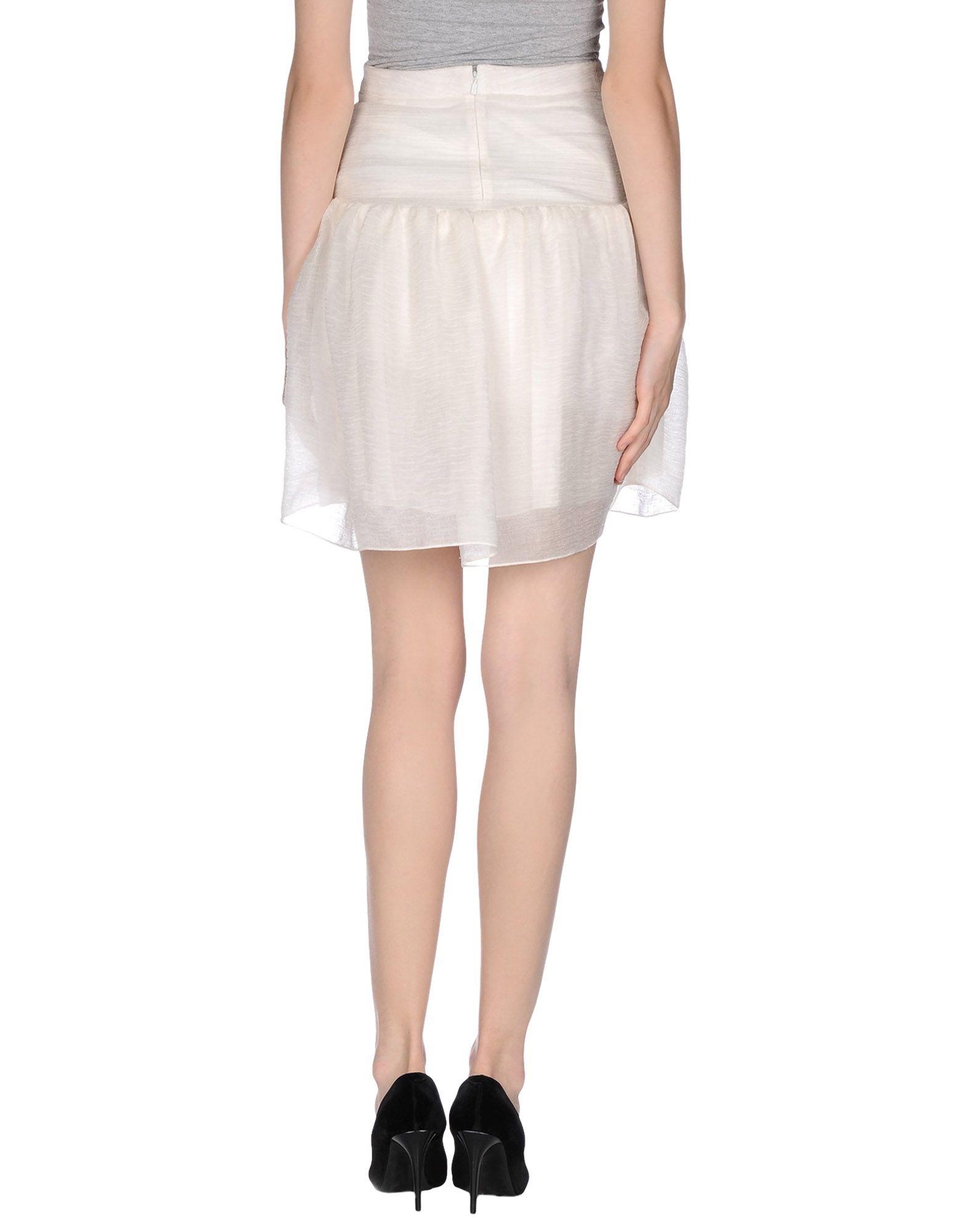 chlo 233 knee length skirt in white lyst