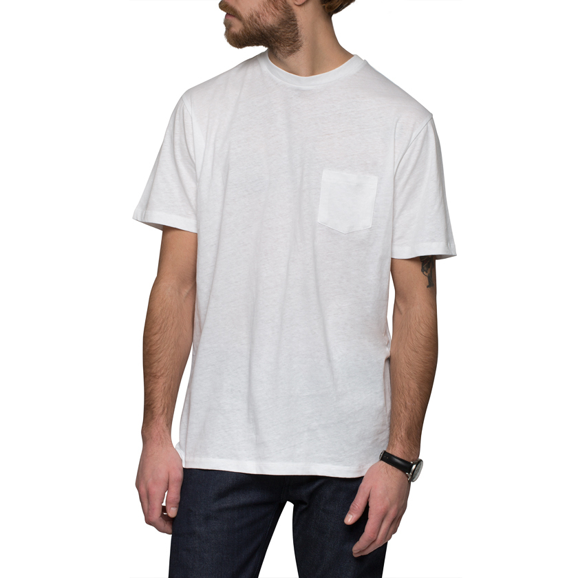 sunspel white relaxed fit t shirt in white for men lyst