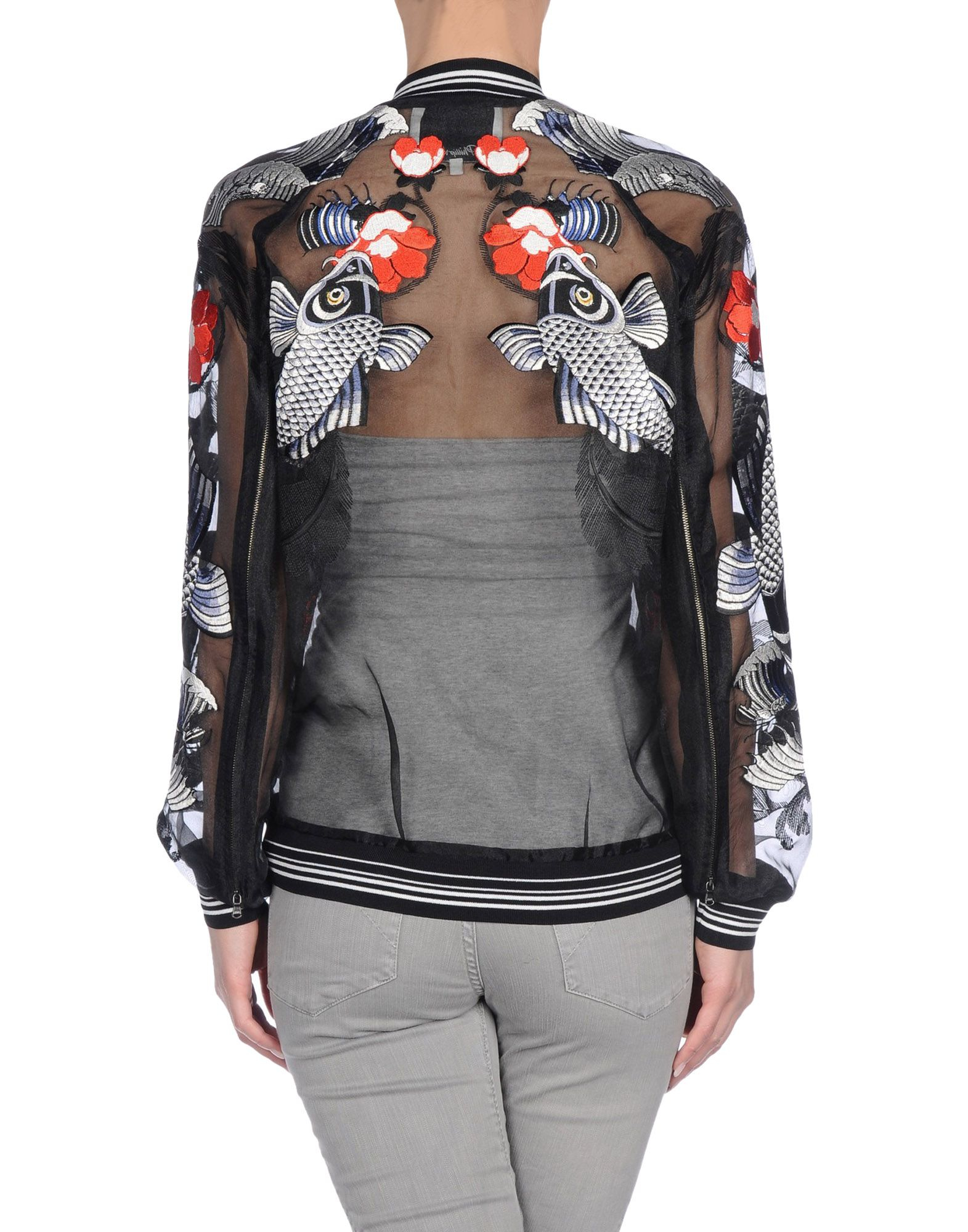3.1 phillip lim Tattoo Embroidered Organza Jacket in Nude