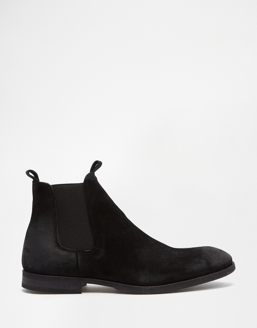 selected elected homme melvin suede chelsea boots in black for men lyst. Black Bedroom Furniture Sets. Home Design Ideas