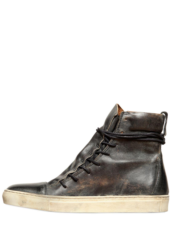 John Varvatos Vintage Effect Leather