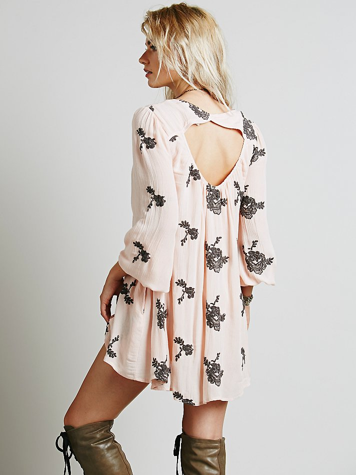 Free People Fp Collection Womens Embroidered Austin Dress