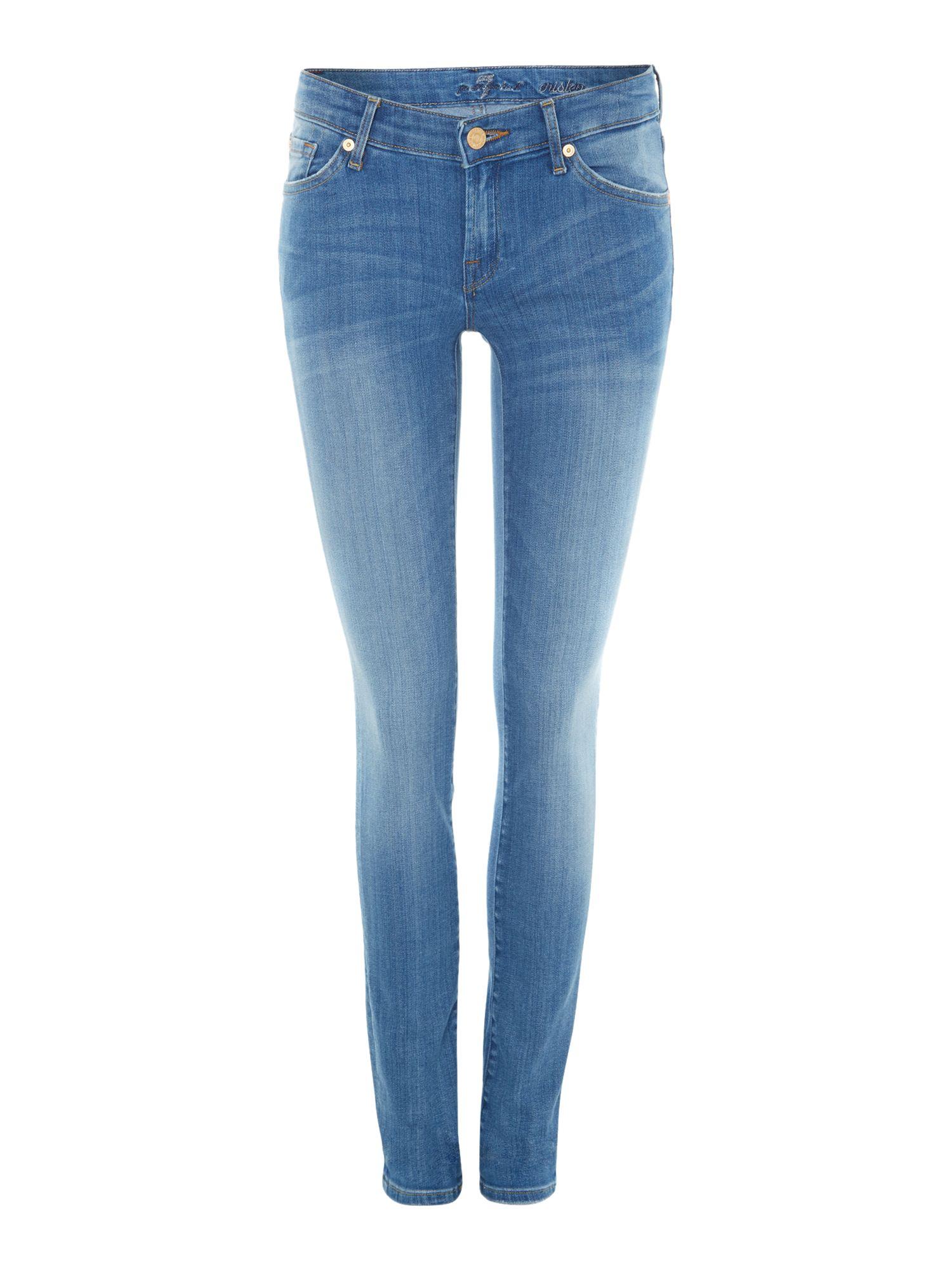 7 for all mankind cristen skinny jeans in indigo summer. Black Bedroom Furniture Sets. Home Design Ideas