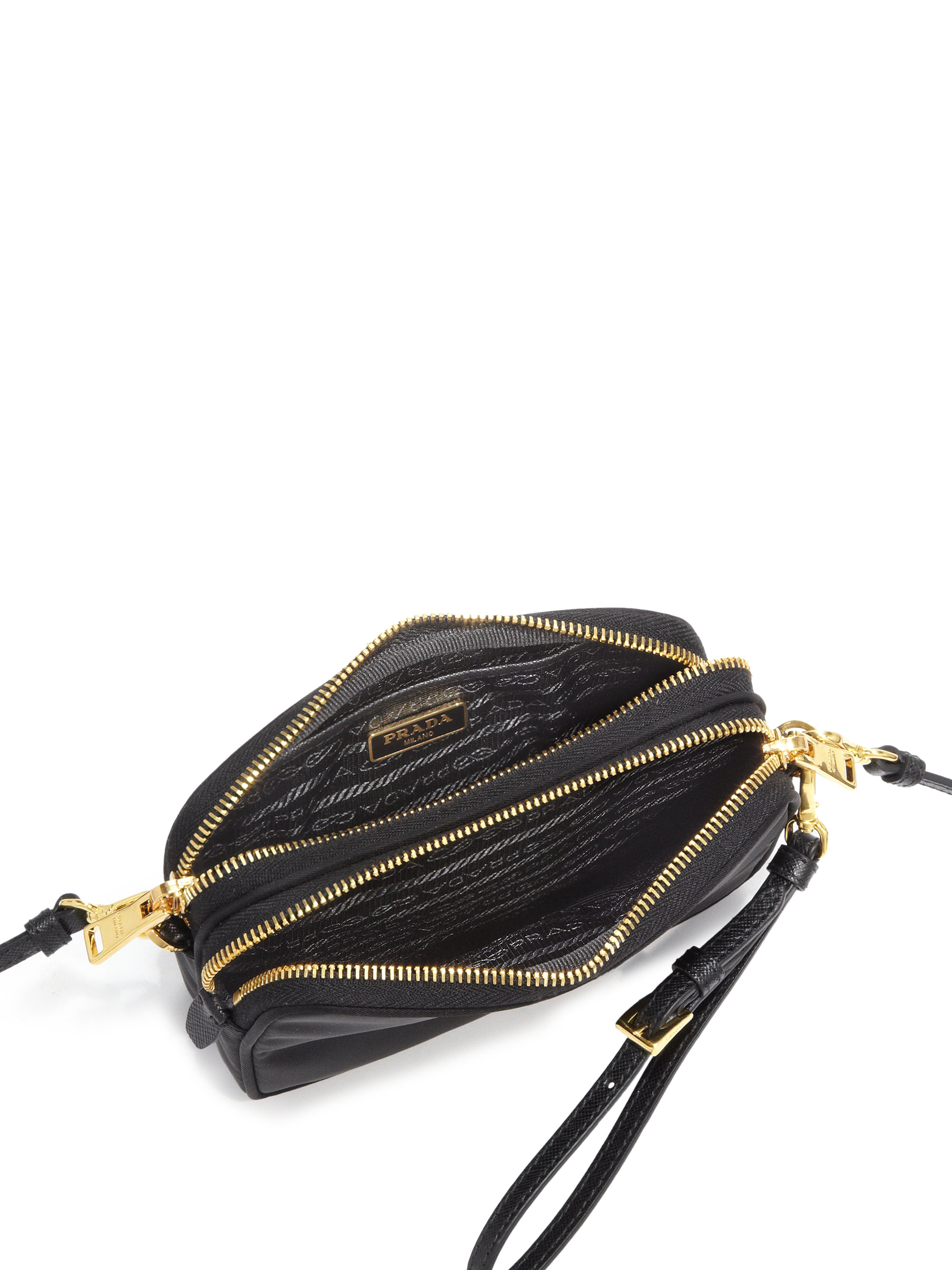 77f0b7f92848 ... coupon for prada nylon camera bag in black lyst a3c87 4e450