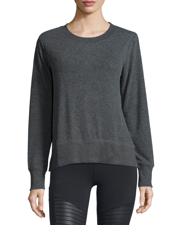 Alo Yoga Glimpse Long-sleeve Top In Gray