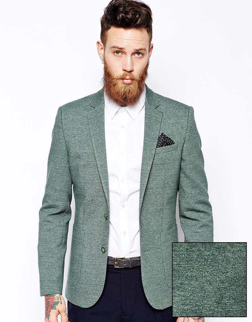 Green Slim Fit Blazer