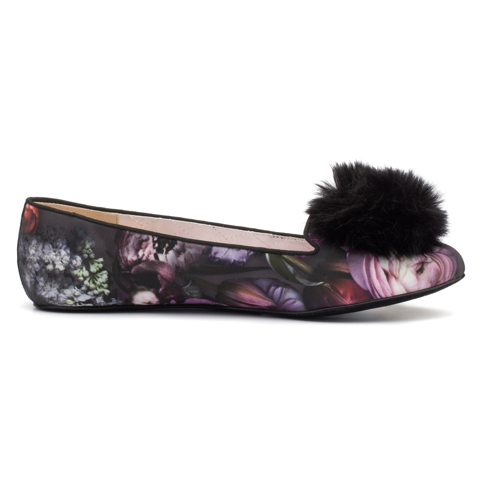 8ee0746c146551 Ted Baker Iveyed Pom Pom Slippers in Purple - Lyst