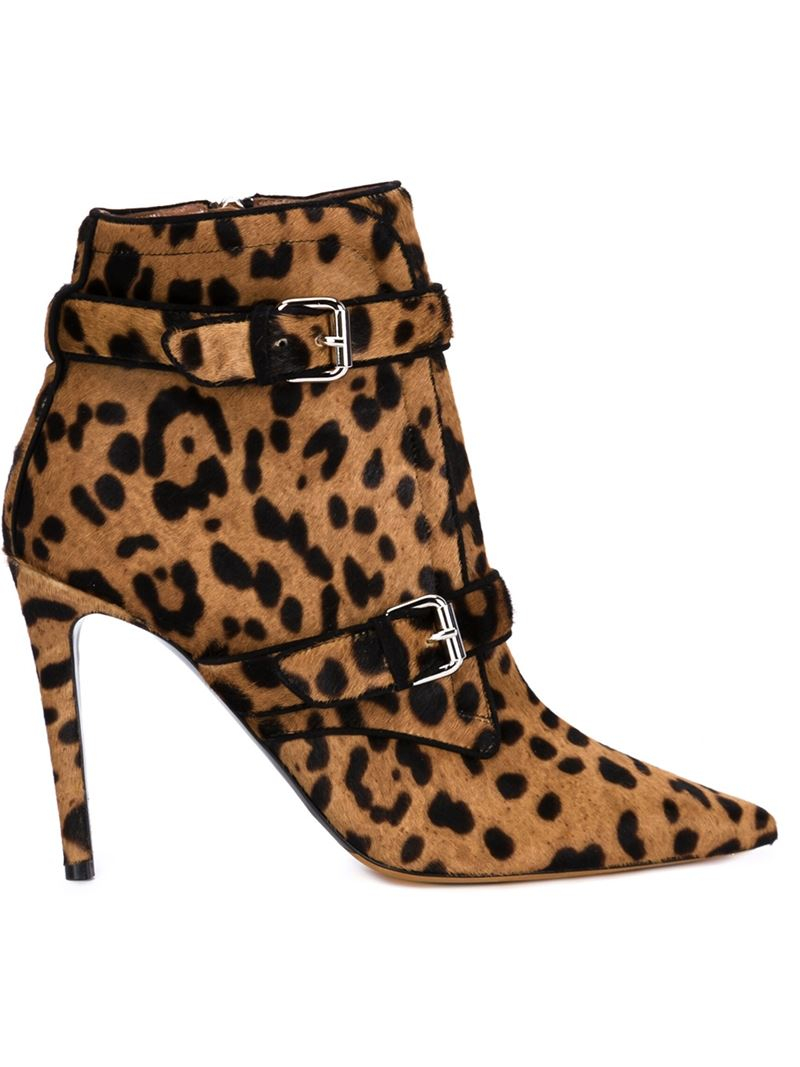 Tabitha Simmons 'melody' Leopard Boots in Brown