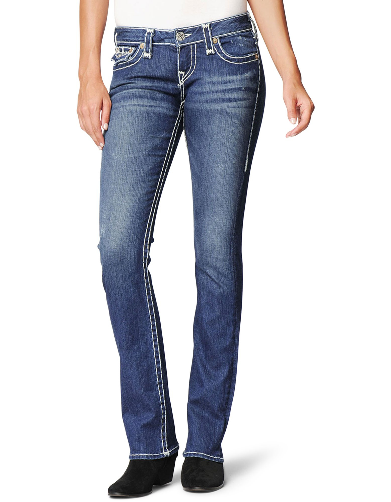 True Religion Womens Billy Natural Super T Jean in Blue ...