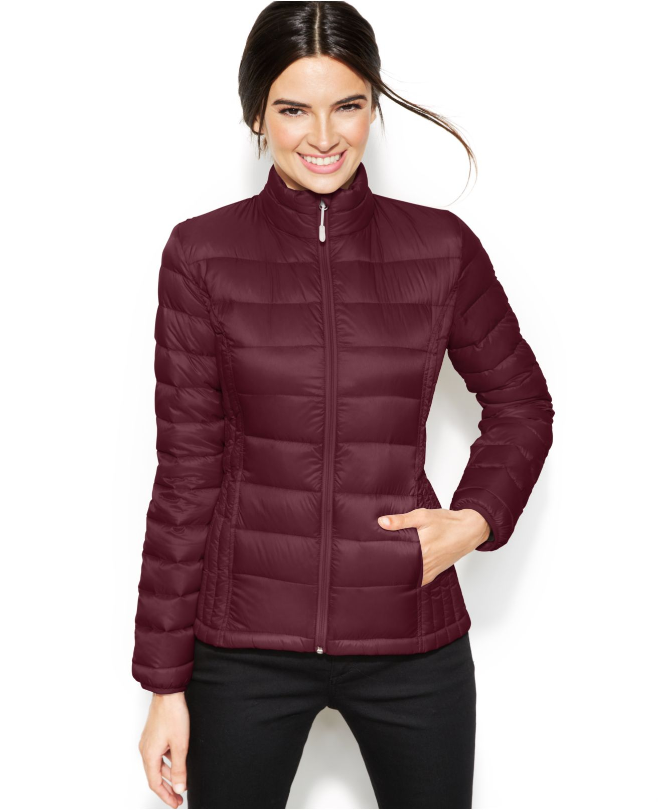 32 Degrees Quilted Down Packable Puffer Coat In Red Lyst