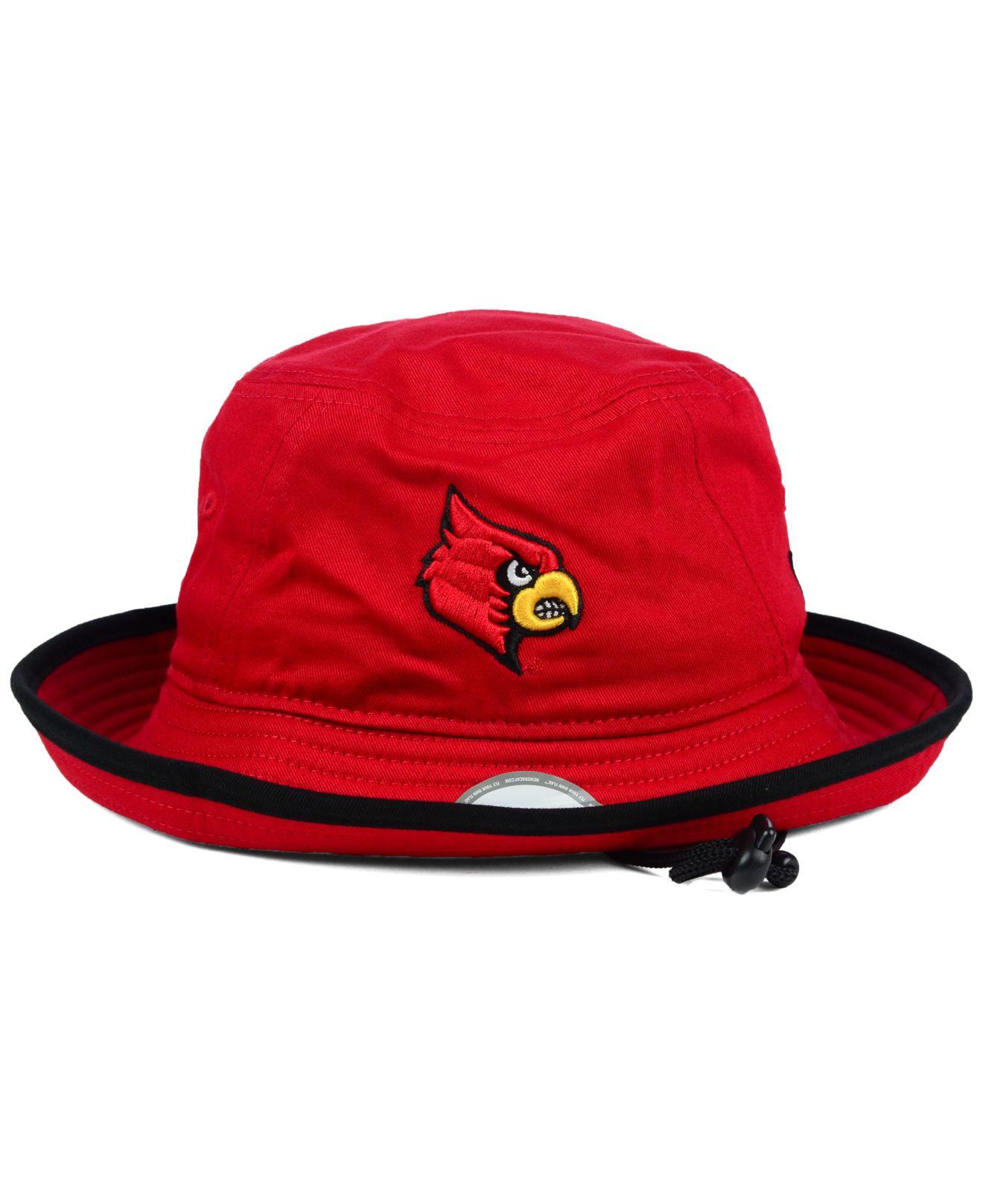 best website 85f7b 53e5e ... greece lyst ktz louisville cardinals tip bucket hat in red for men  86f5d 10ac0
