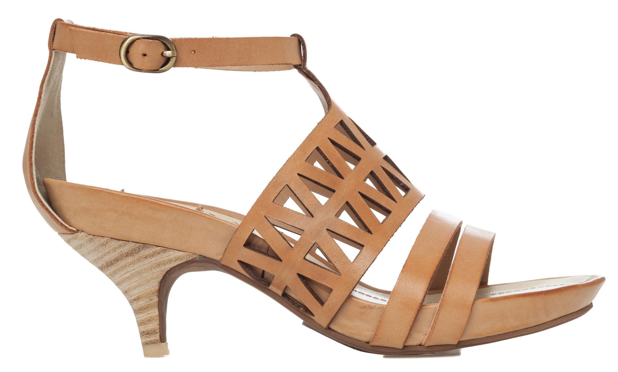 Brown Kitten Heel Sandals