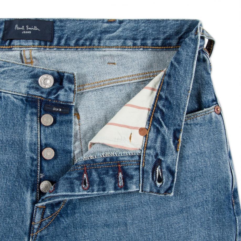Paul Smith Men's Classic-fit Light-wash Italian Selvedge Jeans in Light Wash Denim (Blue) for Men