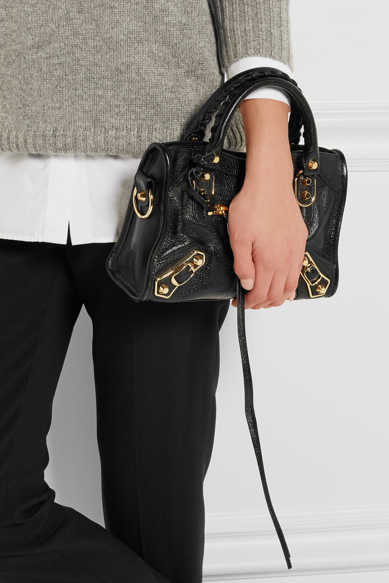 Balenciaga Small Metallic Edge Leather City Bag dYr0T6