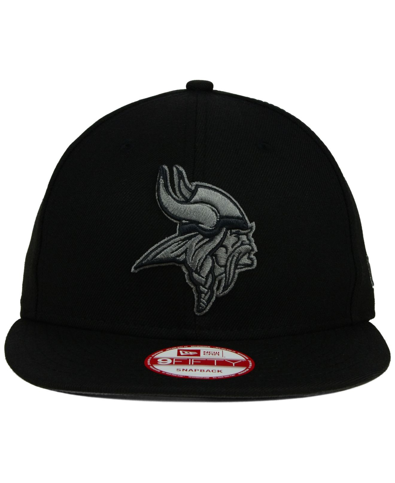 b674aca831daa ... where to buy lyst ktz minnesota vikings black gray 59fifty hat in black  4340d de577