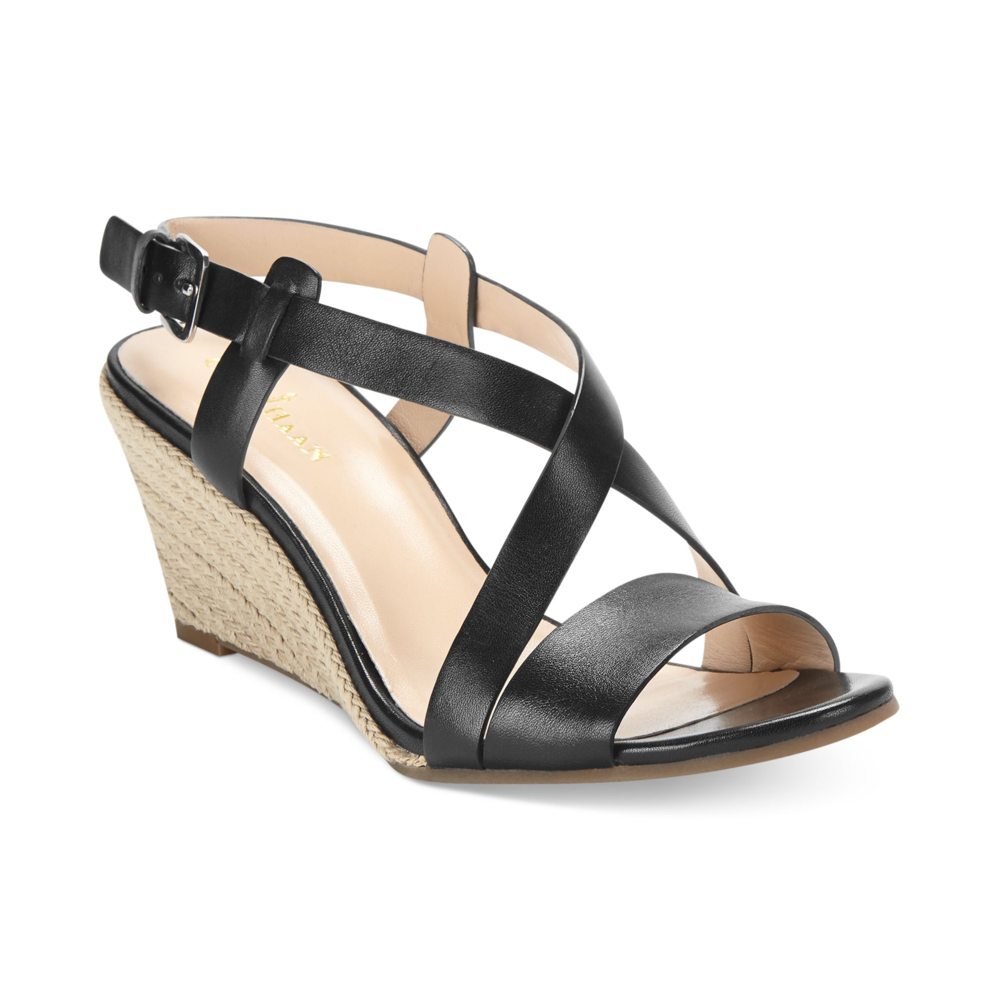 Excellent Cole Haan Reed Woven Sandal Womens Leather Slingback Sandals Shoes