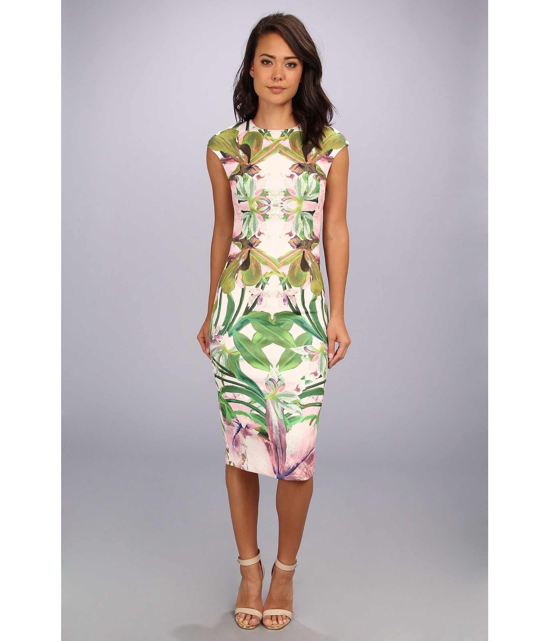 Ted Baker Safiya Jungle Orchid Print Dress Lyst