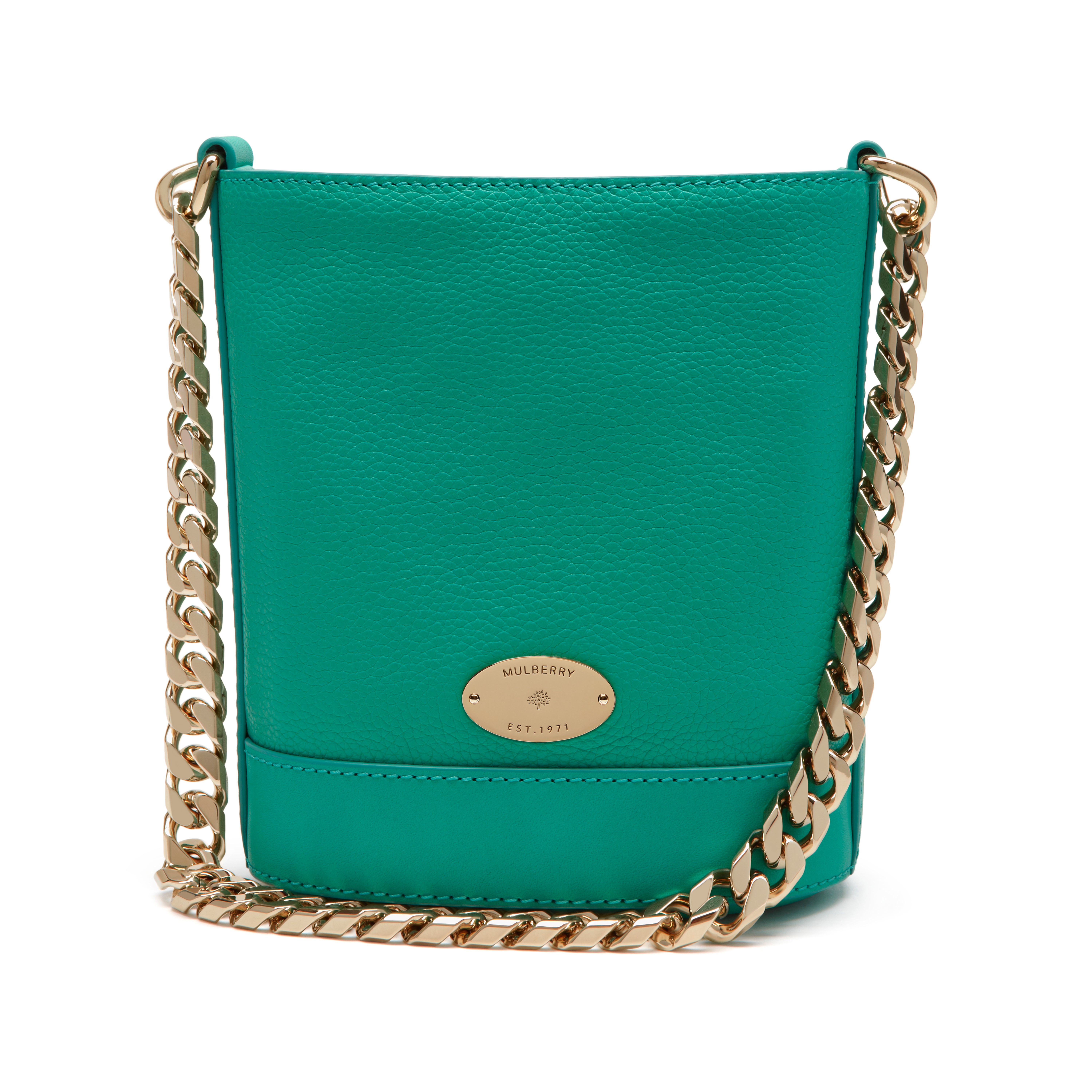 5305b78e24 Mulberry Mini Jamie Leather Bag in Green - Lyst