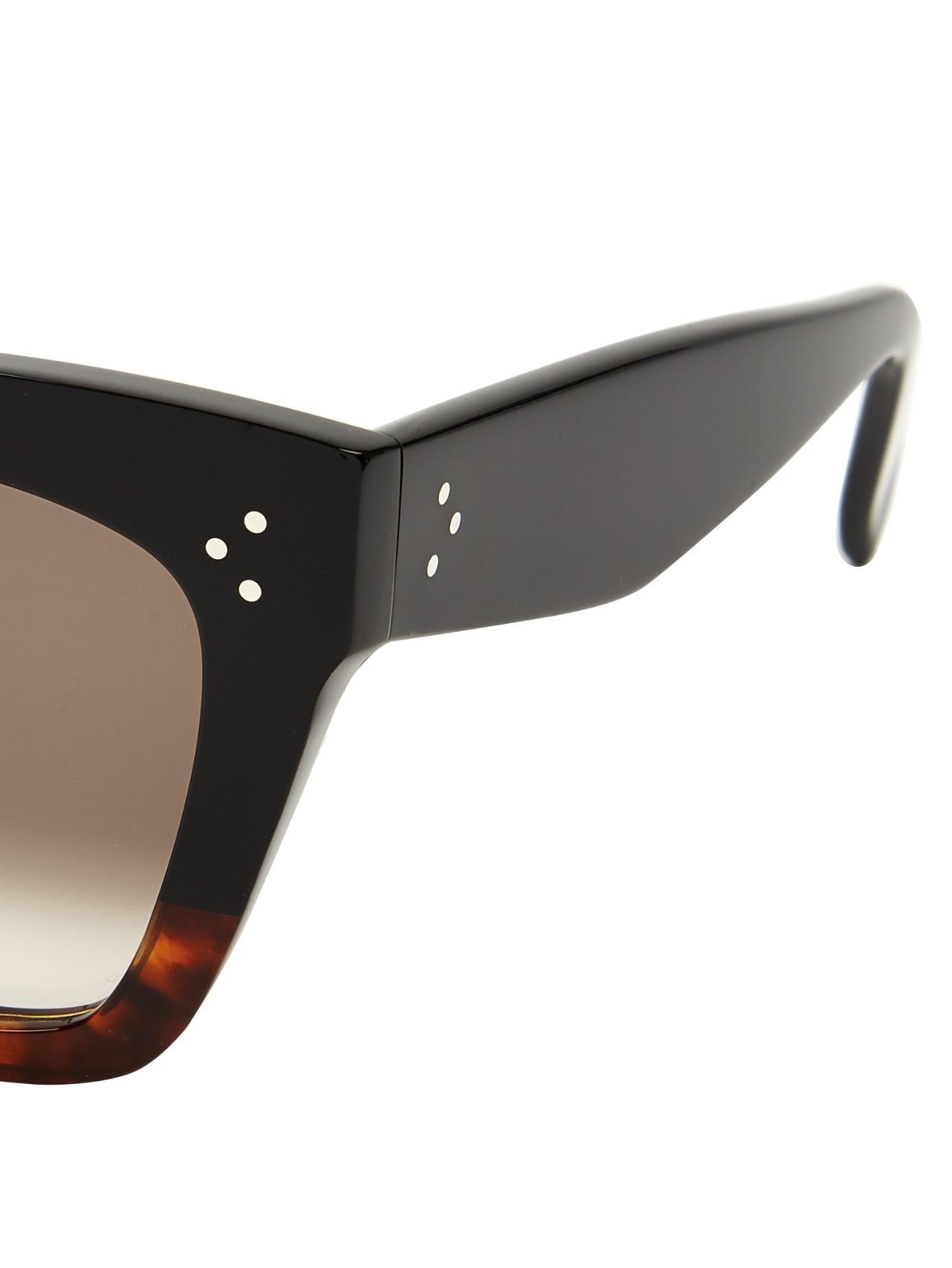 Lyst - Céline D-frame Acetate Sunglasses in Brown