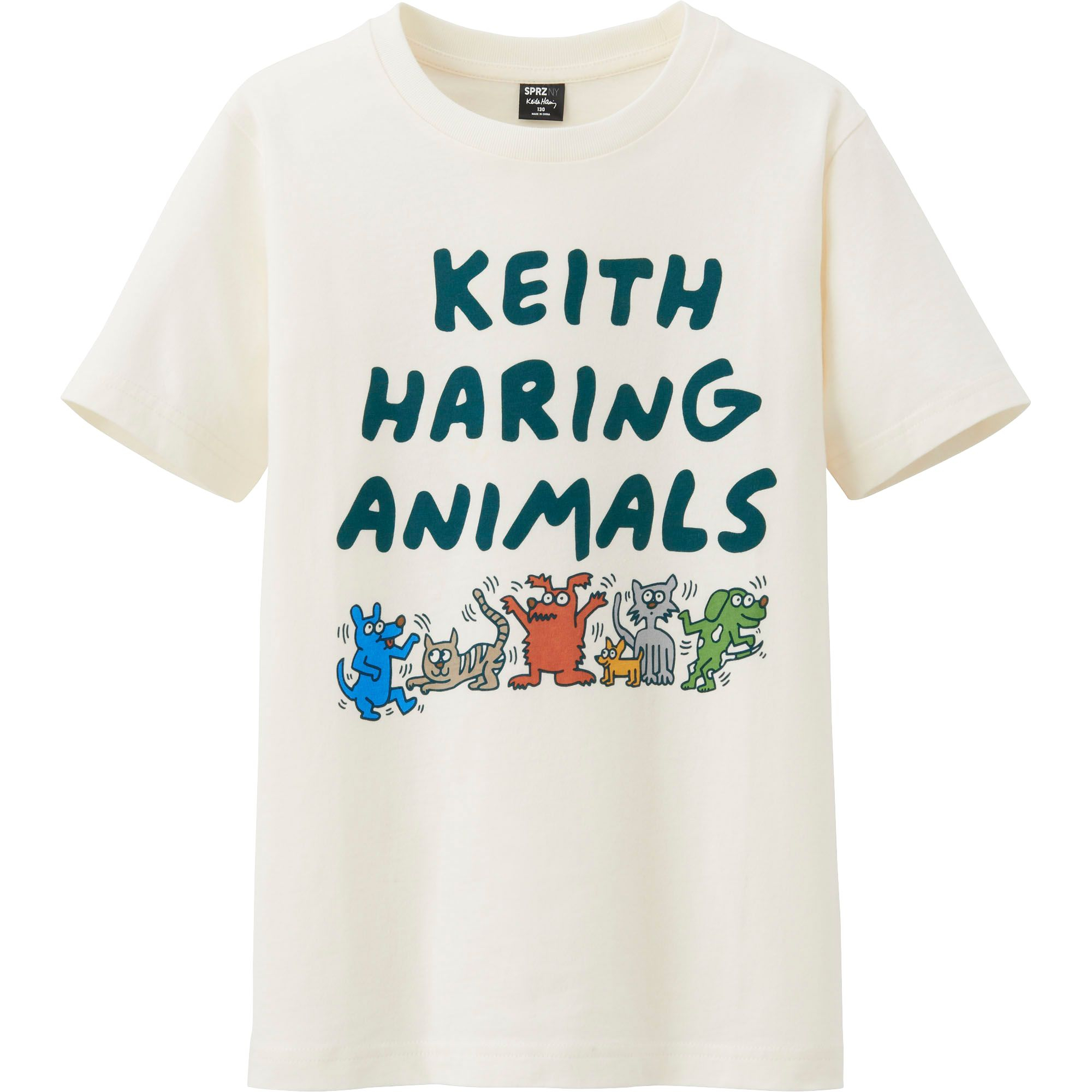 all ut sprz ny graphic t shirt keith haring in beige for. Black Bedroom Furniture Sets. Home Design Ideas