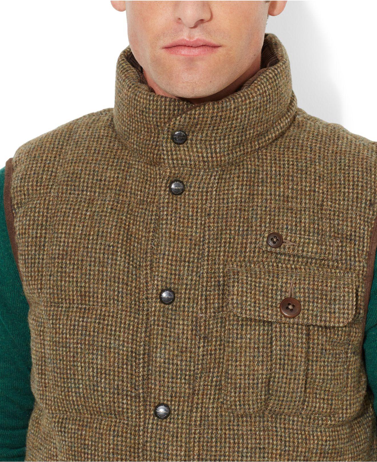 Lyst - Denim & Supply Ralph Lauren Wool Tweed Vest in