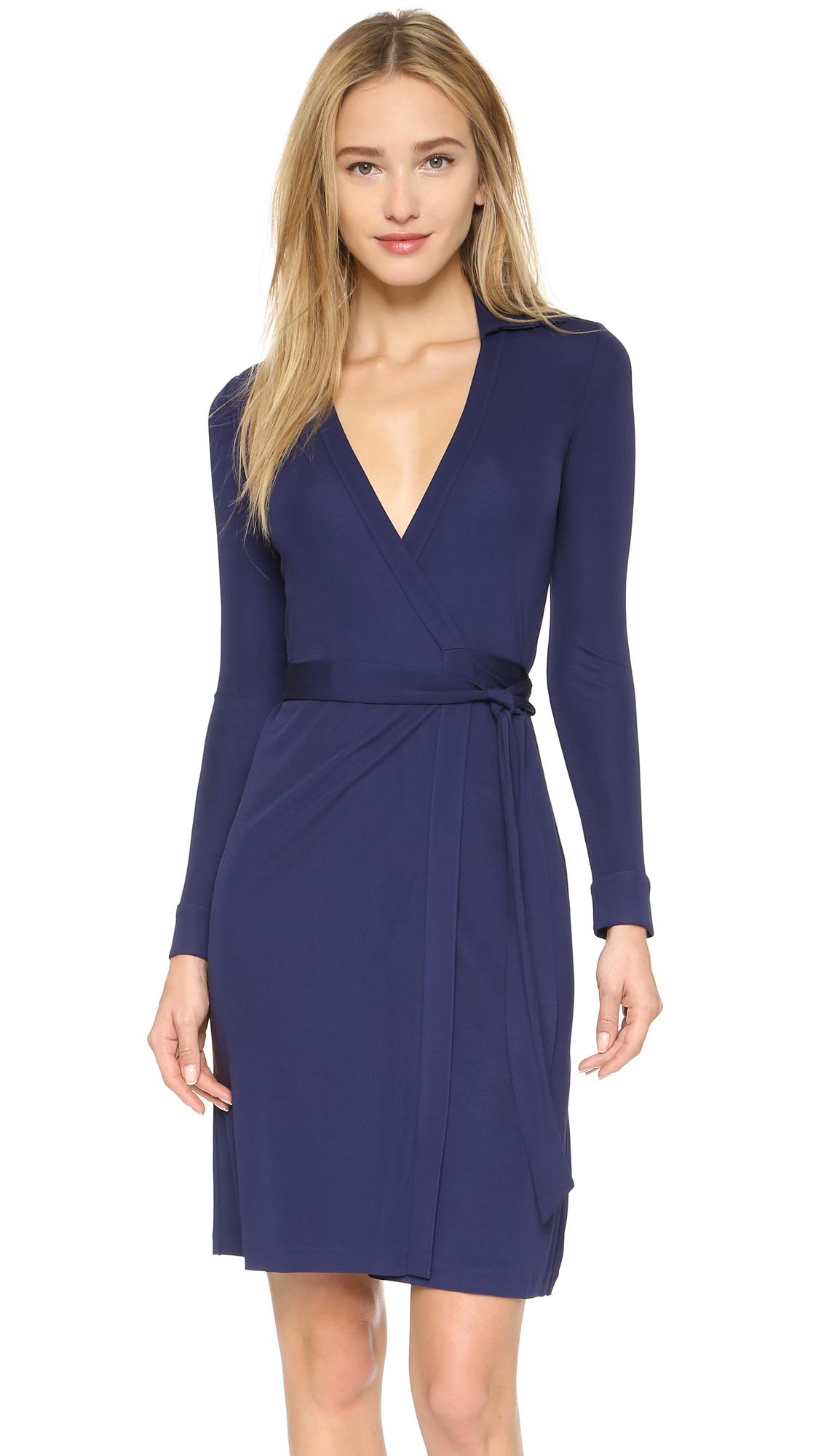 Diane Von Furstenberg New Jeanne Two Wrap Dress In Blue Lyst