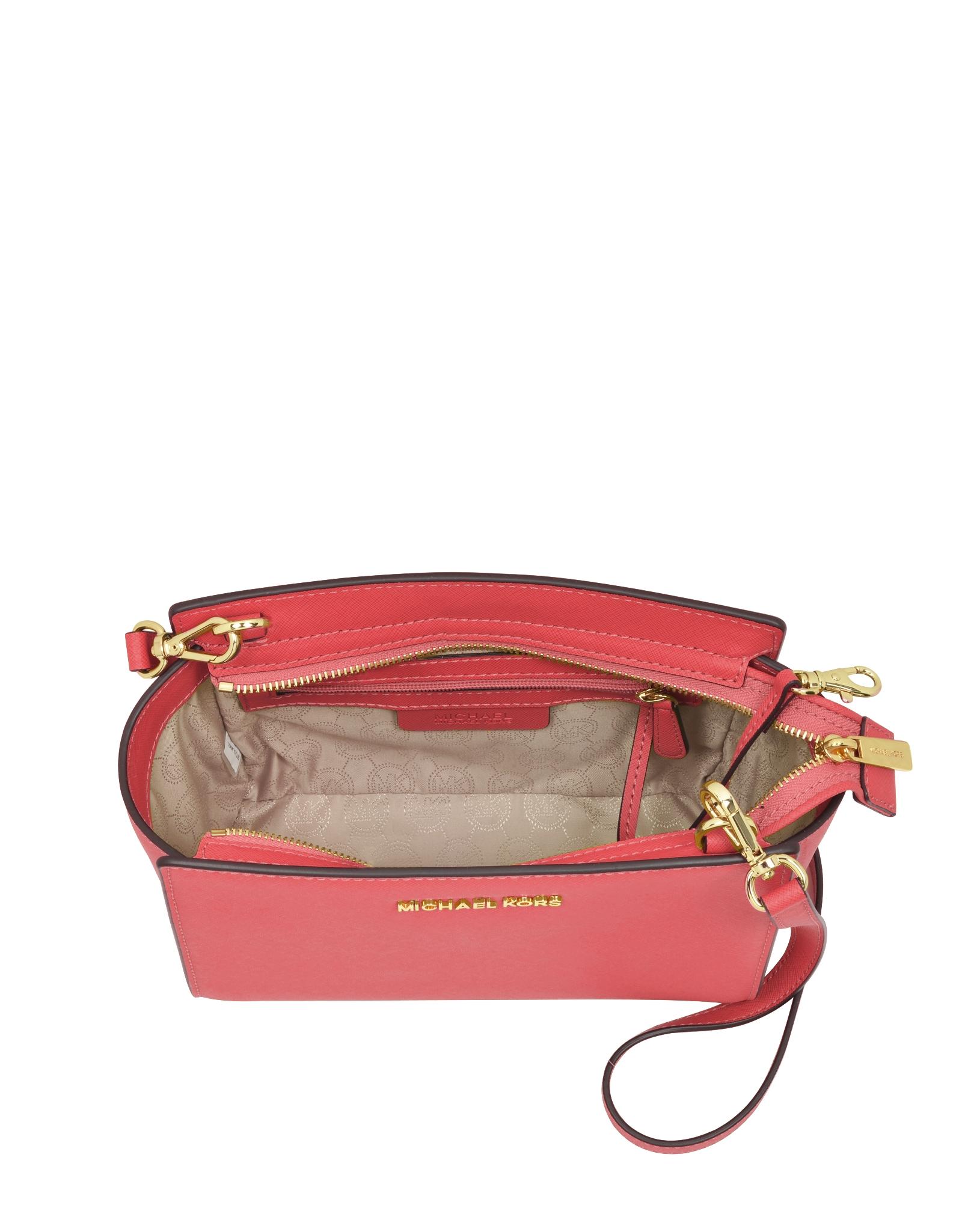 0bd762f237bcf7 Michael Kors Selma Medium Saffiano Leather Messenger Bag in Pink - Lyst