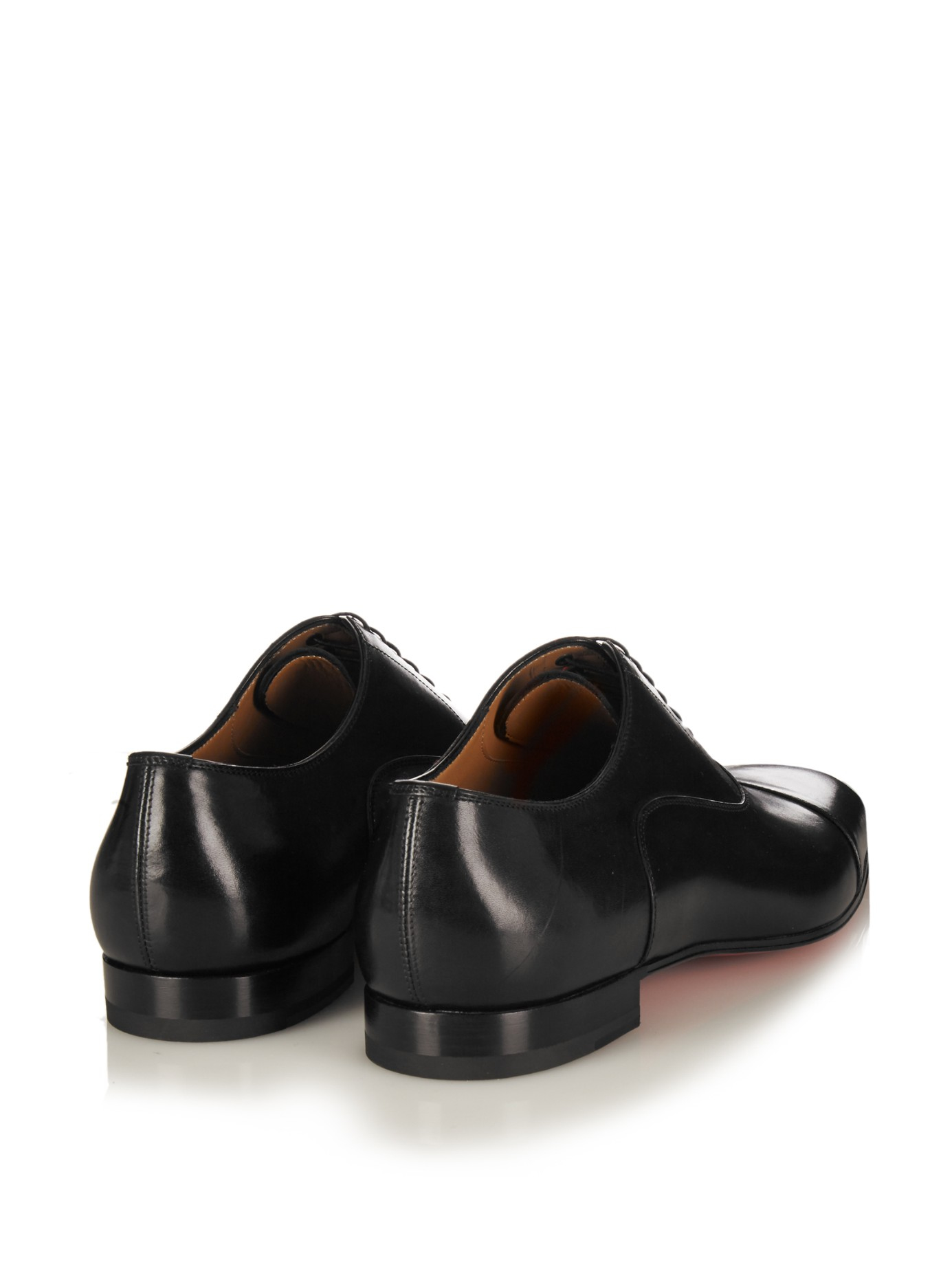 d7d711b9b113 Lyst - Christian Louboutin Greggo Leather Lace-up Shoes in Black for Men