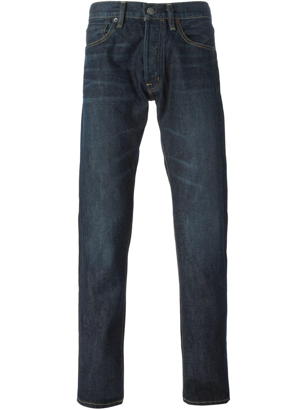 denim supply ralph lauren straight leg jeans in blue for. Black Bedroom Furniture Sets. Home Design Ideas