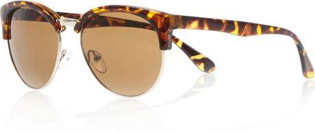 Half Frame Tortoise Shell Glasses : River Island Brown Tortoise Shell Half Frame Sunglasses in ...