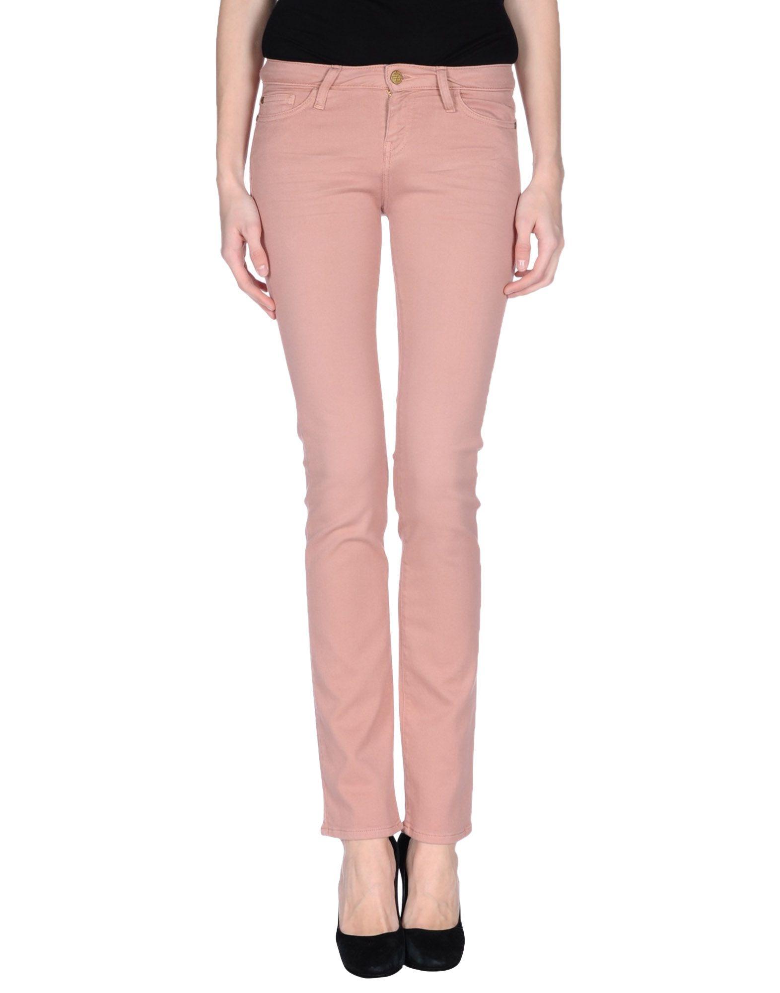 Acquaverde Denim Pants in Pink | Lyst