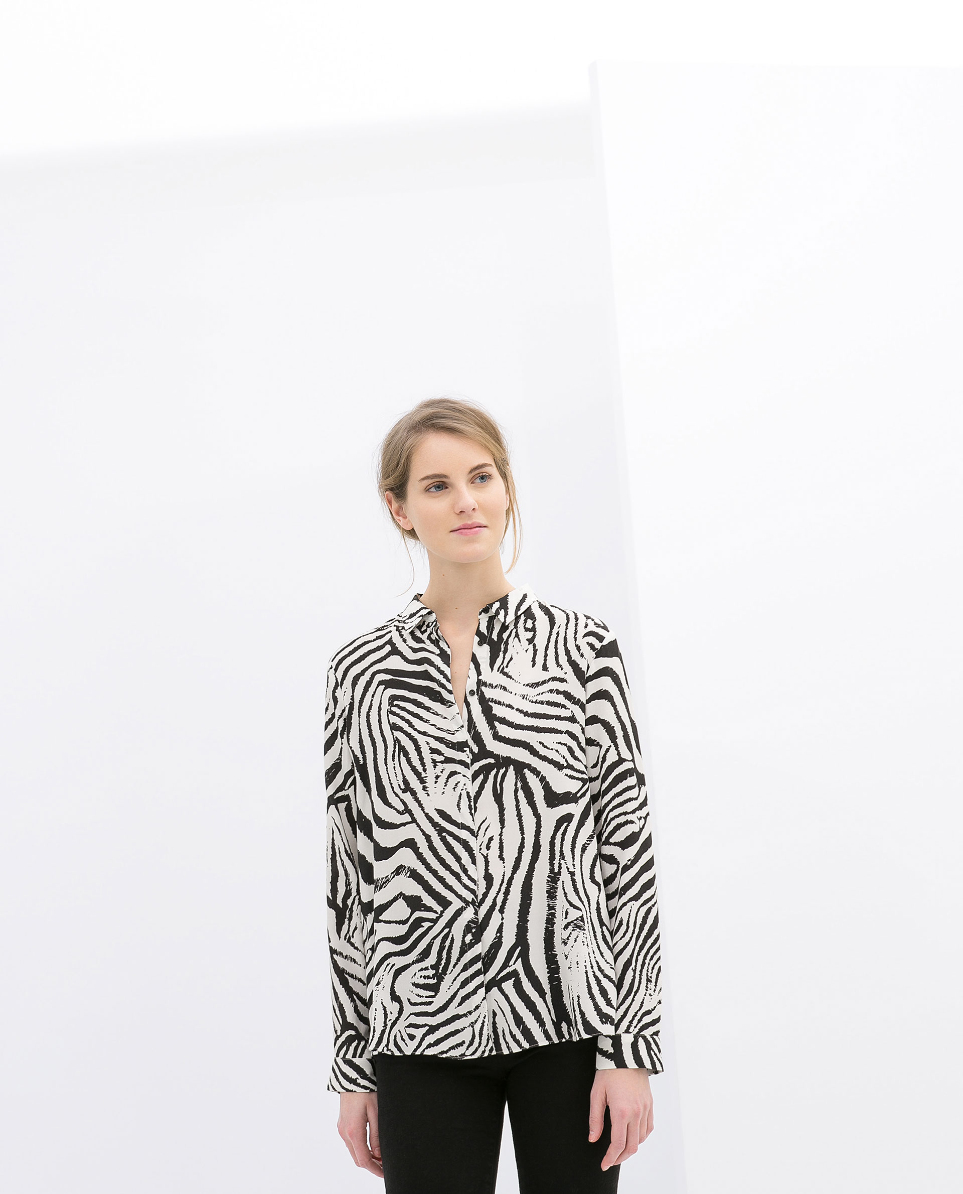 Zara Zebra Print Blouse 48