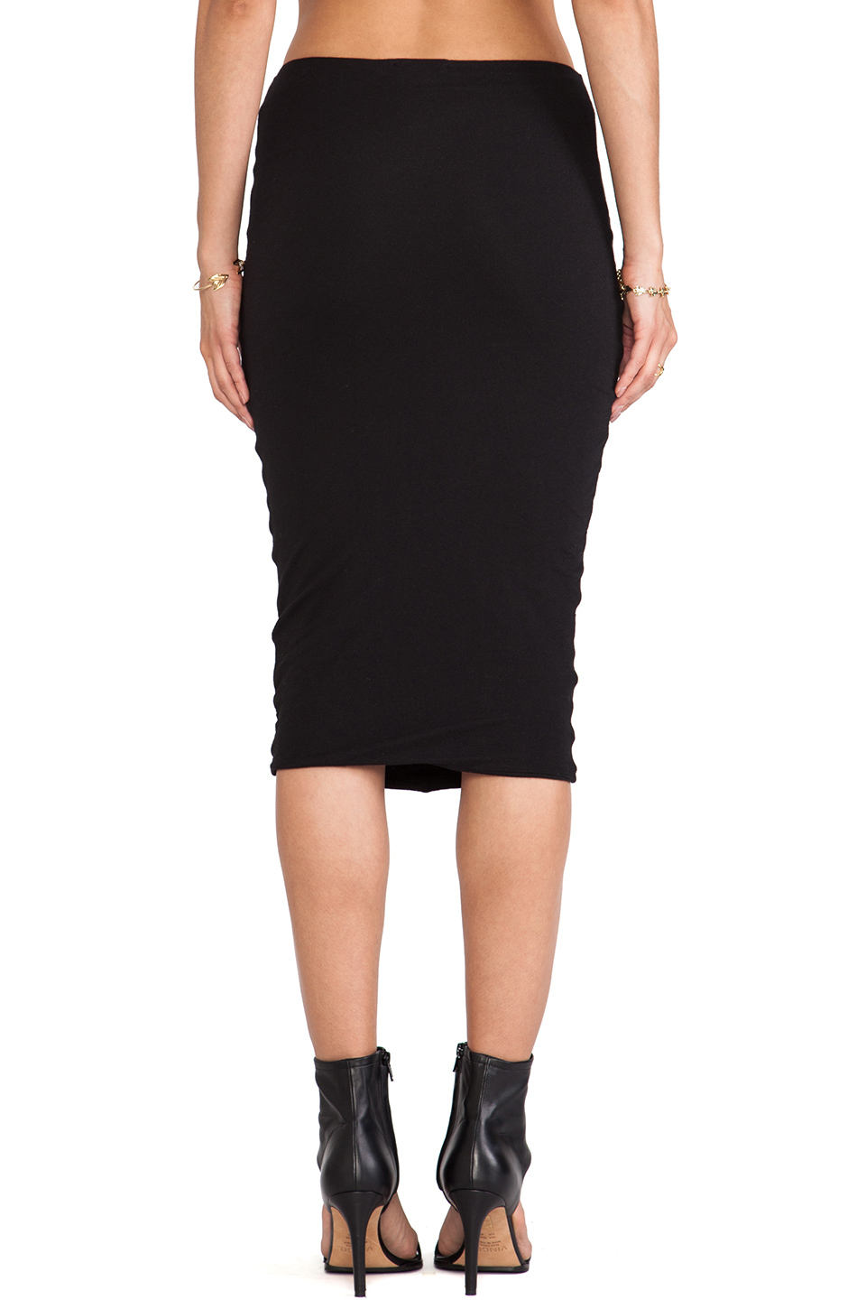 Lyst James Perse Tie Front Skirt In Black