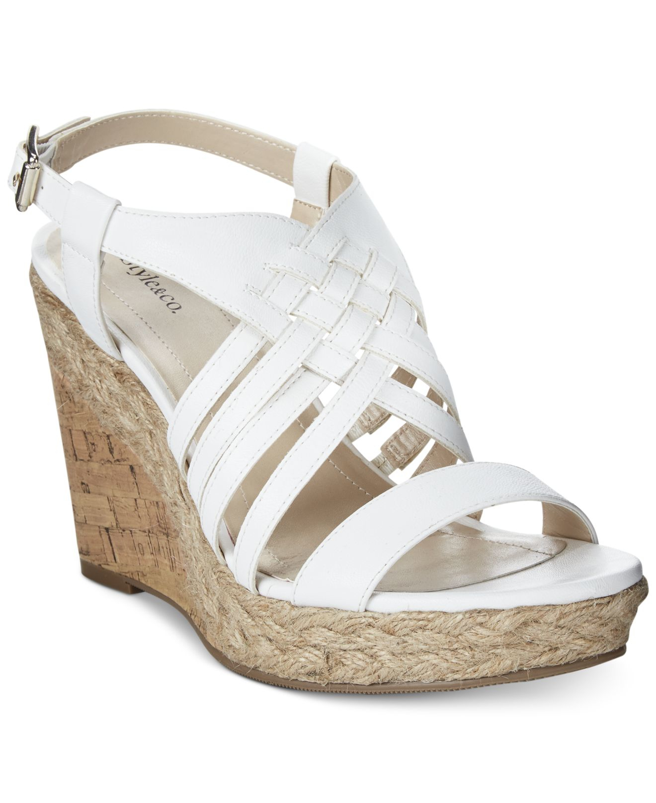 Style Amp Co Raylynn Platform Wedge Sandals Only At Macy S