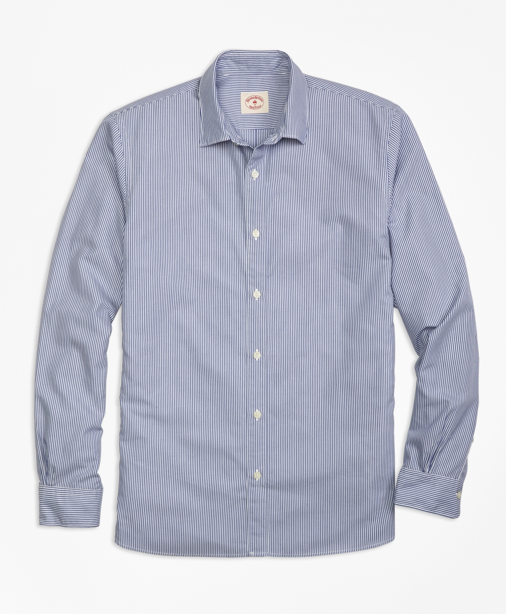 Brooks brothers nine to nine stripe shirt in blue for men for Brooks brothers boys shirts