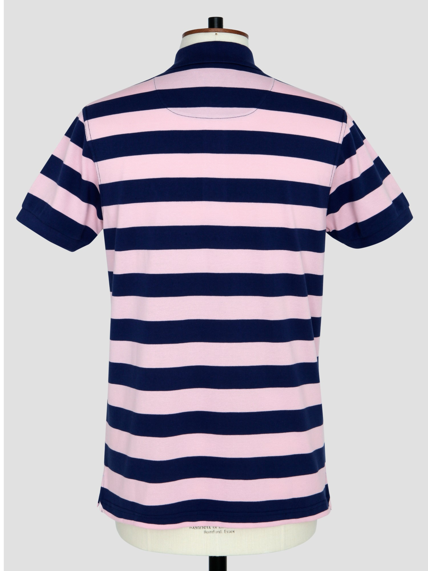 Thomas Pink Weedon Stripe Polo Shirt in Pink/Navy (Blue) for Men