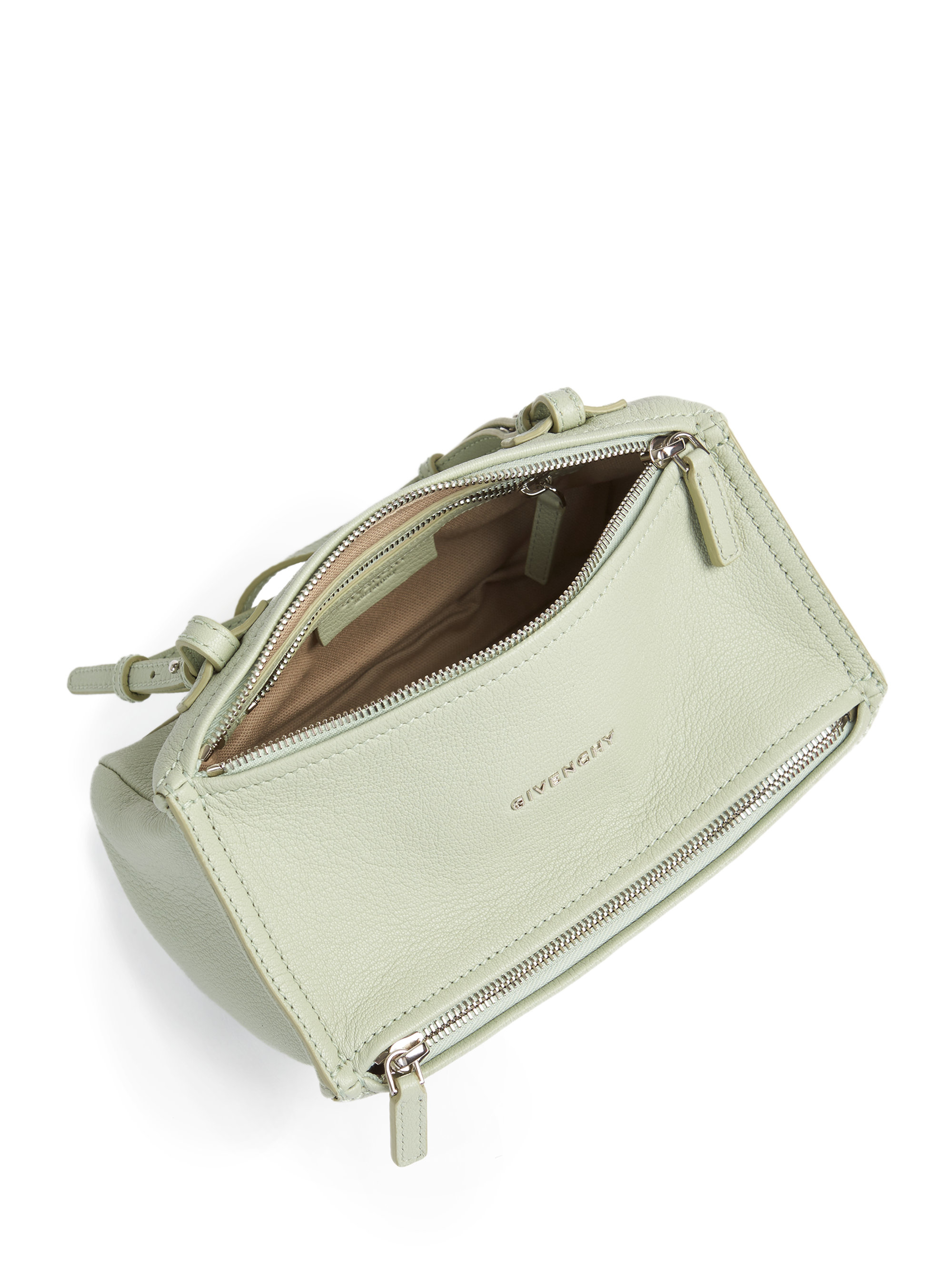 0423f41b6746 Lyst - Givenchy Pandora Mini Leather Shoulder Bag in White