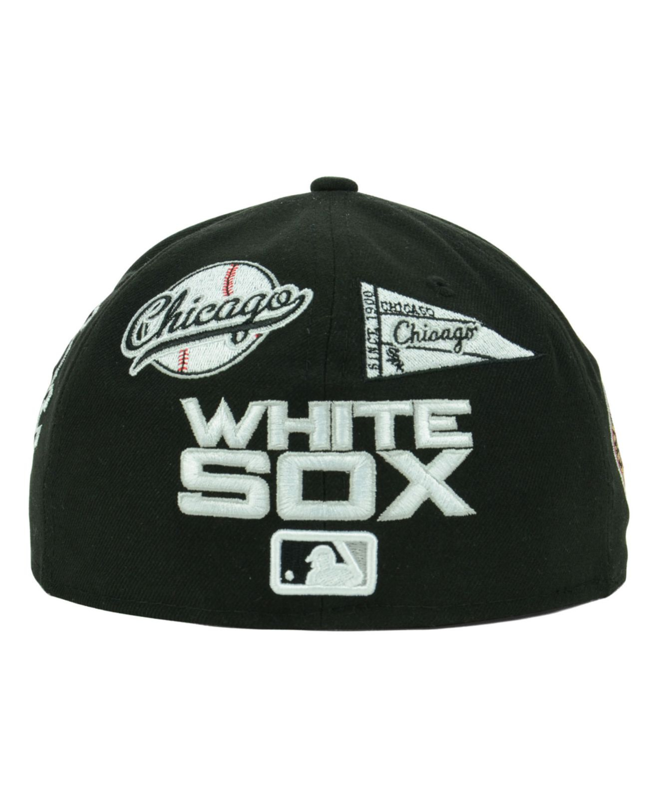 Lyst - Ktz Chicago White Sox Mlb Patch D Up 59Fifty Cap in Black for Men c00d31b7e67a